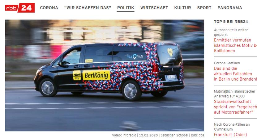 Medien wie der rbb berichten regelmäßig über die Zukunft des Rufbussystems der BVG.